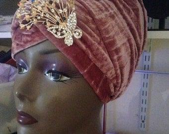 Velvet turban(head wrap)