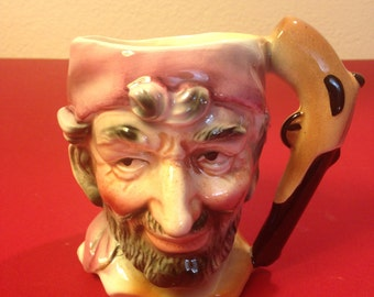 Toby-Style Pirate Character Mug Hand Painted Made by ARNART 5th Ave Made in Japan
