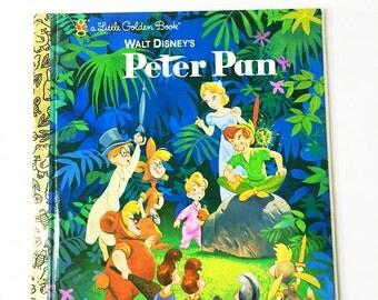 Little Golden Book. Peter Pan.  Walt Disney.  LGB.   Vintage Hardback Book.  Children's