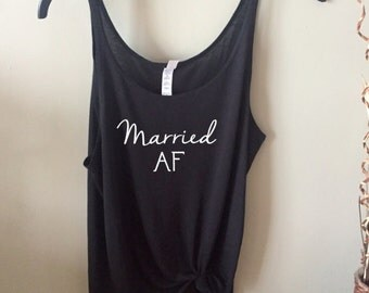 Married AF Super Slouchy Women's Tank Top - Wife Tank
