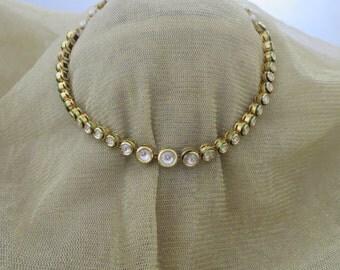Elegant single ser jadtar/kundan necklace and earrings set