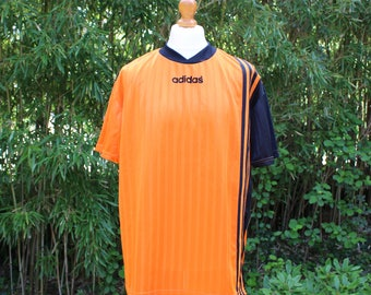 Retro 90's Adidas Football T-Shirt - Size Extra Large
