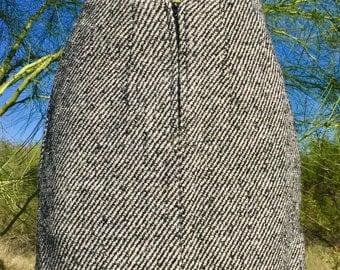 Vintage 80's High Waisted Knit Mini Skirt sz xs
