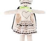 Rag doll-super-hero-girls-cotton embroidered-haute couture: Mister McQueen