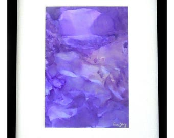Purple Ice Cave Alcohol Ink  Original Painting