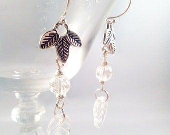 "Earrings Sterling Silver Glass ""Gaïa"""