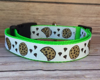 Cookie Dog Collar / Dog Collar / Food Dog Collar / Chocolate Dog Collar / Chocolate Chip Dog / Large Dog Collar / Medium Dog Collar / Fun