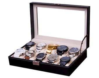 Watch Box Case, Watch Storage Box, Watch Display Case, Watch Collection Case, Collector Box, BEST Men's Christmas Gift, Man Gift