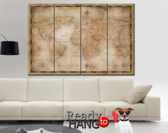 World Map, Canvas map of the world, World Map Art Canvas, World map wall art, Canvas World Map, World map on canvas, World Map Canvas Art