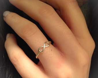 Infinity Ring-Sterling Silver Infinity Ring-Promise Ring-Stacking Ring-Infinity Stack Ring-Alternate WeddingBand-Dainty Infinity Symbol Ring
