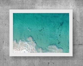Big Blue Print, Wall Art, Digital Print, Printable Download, Drone, Aerial, Photography, Home Decor, Ocean, Digital Download, Beach, Poster