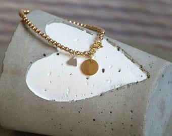 Bullet bracelet 3 mm gold filled