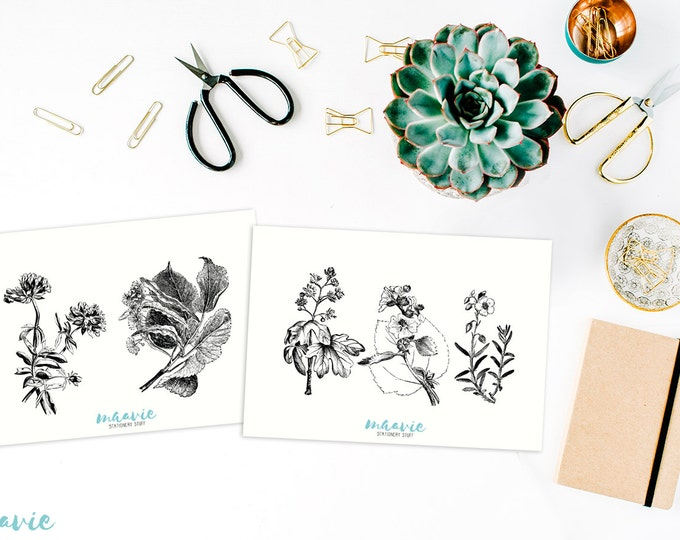 Flowers and plants stickers (5,6,7,8)