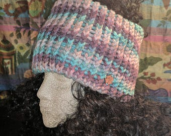 Gray Day Knitted Ear Warmer