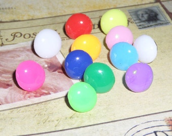 Handmade Decorative Thumb Tacks, Push Pins, Multi color