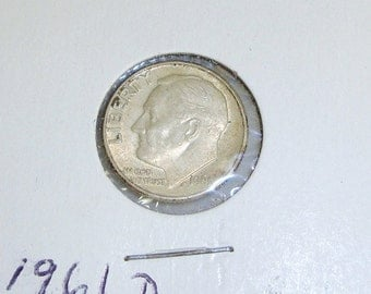 AU 1961-D ROOSEVELT Dime COIN ~ Almost Uncirculated