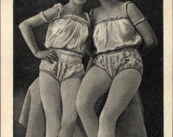 Real Photo Postcard 1920s, Two BALLET Dancers in Costume; Mint condition.