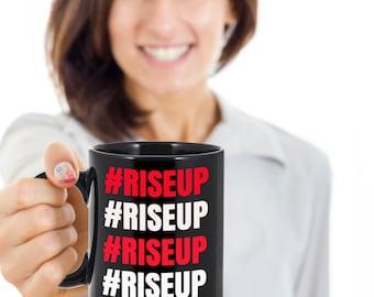 Atlanta Falcons Mug - RISE UP - Atlanta Falcons Gifts for Super Bowl - Coffee Mug for Men and Women Who Love the Falcons