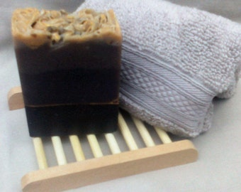 Goats Milk Soap, Double Chocolate, Cold Process, Palm & SL Free.