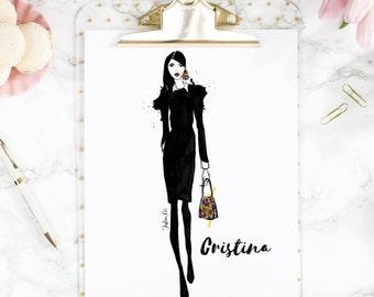 LIMITED TIME OFFER| Custom Fashion Illustration, Digital Custom Fashion Illustration, Custom Blogger Illustration, Fashionista