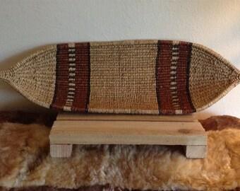 Vintage boat basket. Woven basket. Wall hanging. Mid century.