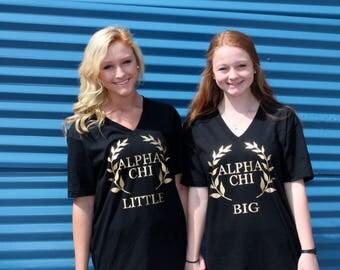 Alpha Chi Omega big/little t-shirts