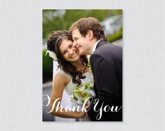 Printable OR Printed Wedding Thank You Cards - Photo Thank You Cards for Wedding - Personalized Thank You Cards, Custom Thank You Cards 0003