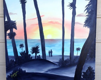 Original Oil Painting - Clearwater Sunset