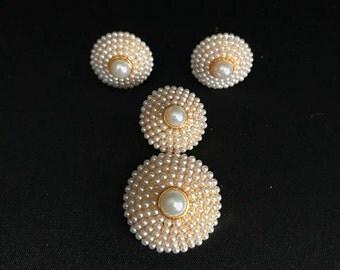 Pearl Jewelry - Indian Pearl Moti Jewelry - Indian Jewelry - Indian Pendant Set - Pearl Pendant Set - South Indian Jewelry - Desi Jewelry -