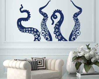 Exceptionnel Octopus Wall Decal Bathroom Decals Tentacles Wall Decor Kraken Wall Decal  Home Decor Sticker Nautical Bedroom