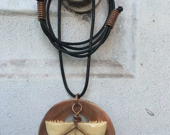 Turtle Shell Copper Necklace Bone Jewelry