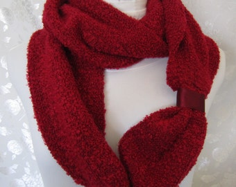 Red Scarf - Red Infinity Scarf - Red Autumn Scarf - Red Winter Scarf - Soft Red Scarf - Gift for Red Lover