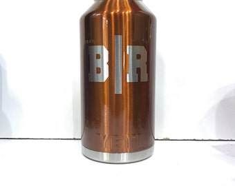 Custom Made Powder Coated 18 36 64 oz YETI Rambler Beer Growler Bottle Thermos Personalized Amber Candy Copper Insulated