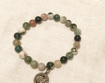 Fancy Jasper Lotus Bracelet