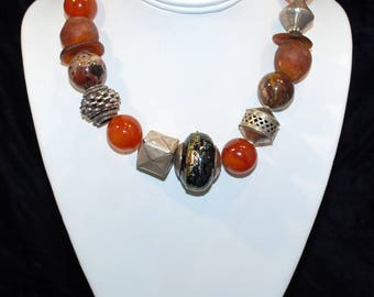 "16"" Necklace - Carnelian Quartz"