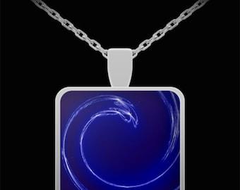 Beautiful Blue Swirl Necklace