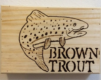Brown Trout Wall Art // Fly Fishing Gifts // Fly Fishing Art
