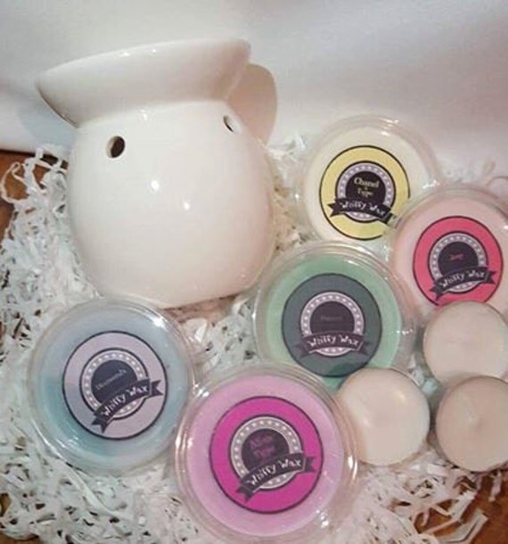 WAX MELTS gift set mix and match perfume scents 2oz pots and a wax burner hand poured variety of scents soy wax highly scented