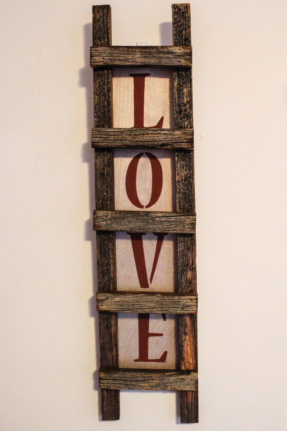 Ladder Decor On Wall : Love ladder wall decor quote antique home