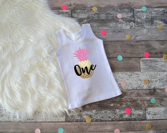 Pineapple Birthday Outfit, Pineapple 1st Birthday, Pineapple first Birthday, Pineapple Birthday, Summer Birthday Shirt, Summer Birthday Tank