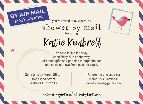 Long Distance Baby Shower / Shower By Mail