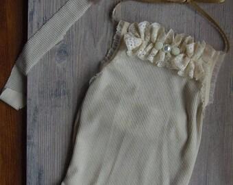Vintage inspired newborn romper