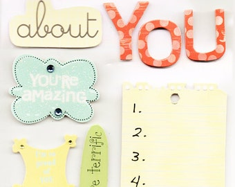 What I Like About You Soft Spoken  Scrapbook Stickers Embellishments Cardmaking Crafts Me & My Big Ideas