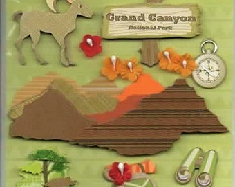 Grand Canyon Happy Trails K&Company 3D Scrapbook Stickers Embellishments Cardmaking Crafts