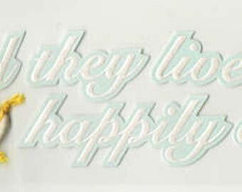 Happily Ever After Disney Title Jolee's Boutique Scrapbook Stickers Embellishments Cardmaking Crafts