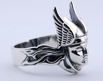VALKYRIE Silver 925 ring Amulet Scandinavian Mythology Viking ring