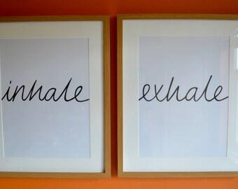Inhale Exhale Print; A3, A2 or A1