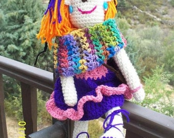 Achuchable hippie doll with or without rattle