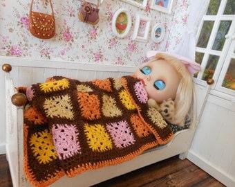 Blanket crochet or crochet with cotton thread. Beds 1:6 Blythe, Pullip, Dal, Momoko, Barbie size BJD YOSD, licca, azone, pure neemo