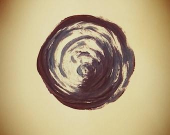 Blue earth - printable wall art, downloadable, modern art